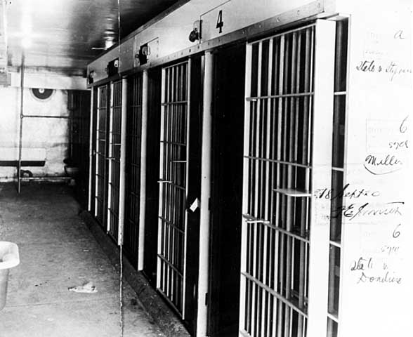Cellblock in Duluth police station damaged by lynching mob