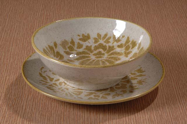 Red Wing Potteries, Inc. Like China line/Damask pattern cereal bowl