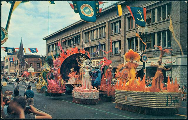 Beautiful Aquatennial Parade, approximately 1960.