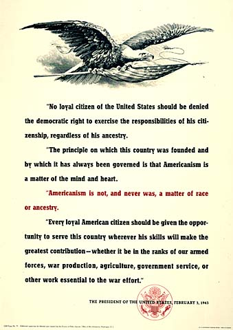 No loyal citizen of the United States should be denied the democratic right. . .