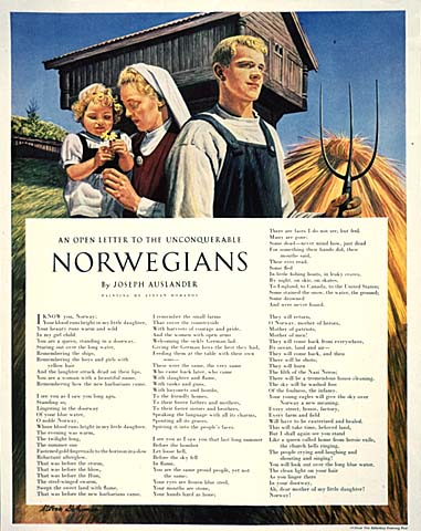 An Open Letter to the Unconquerable Norwegians