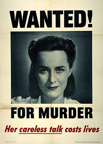 Wanted! For Murder - Her careless talk costs lives