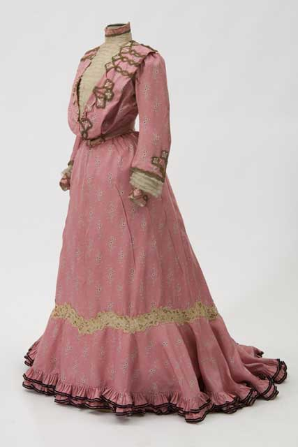 Pink silk afternooon dress.
