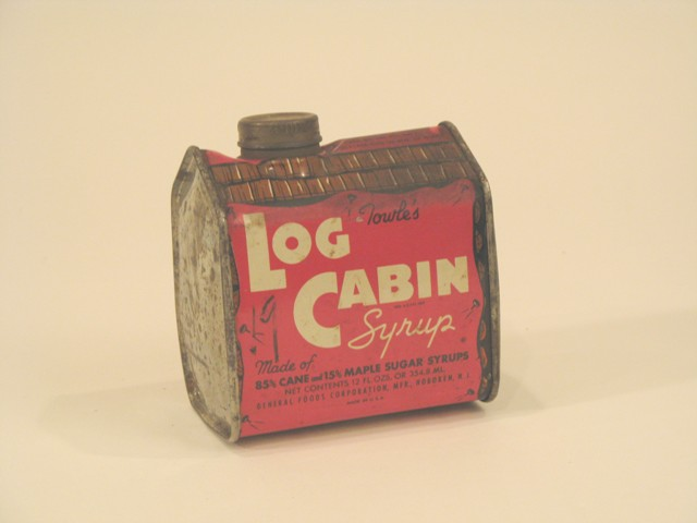 Towle's Log Cabin syrup can