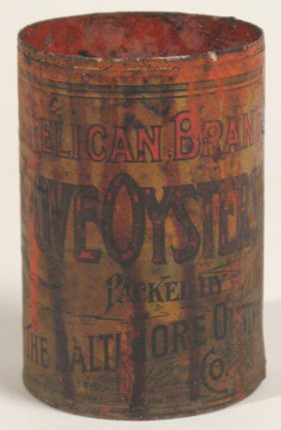 Oyster can from Harkin Store