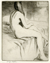 Nude Woman;Nude Sitting on a Bed