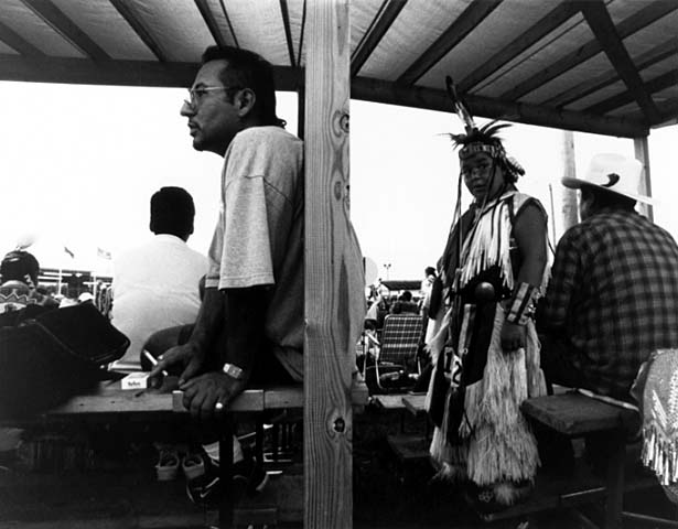 Donovan and Dude, Shakopee Community Pow Wow, August 1999. Photographer: Joe Allen.