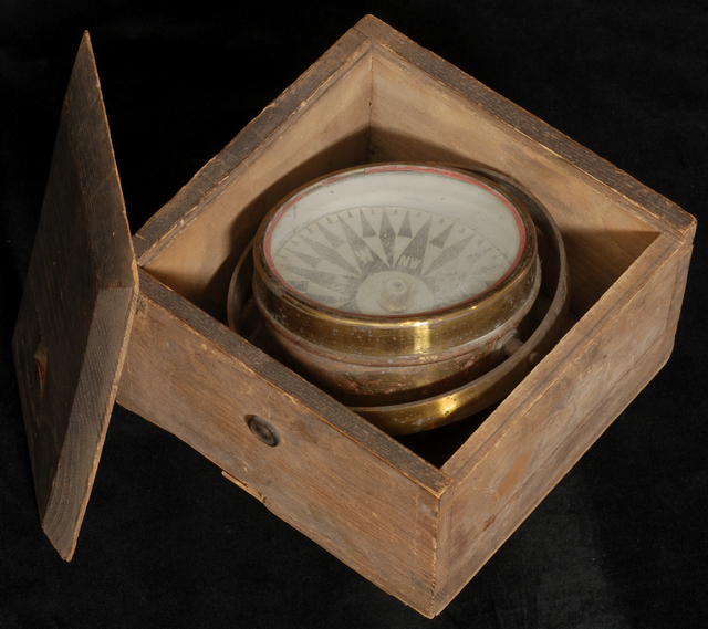 Ship's compass from a sugar sailing vessel, 1901