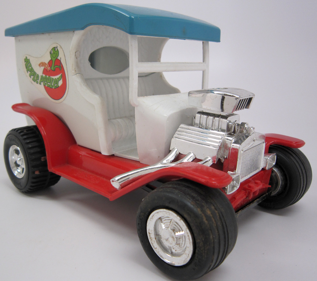 "Tonka toy ""Apple Peeler"" truck. Creation: Approximately 1970."