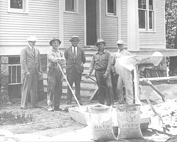 Lindbergh house construction.