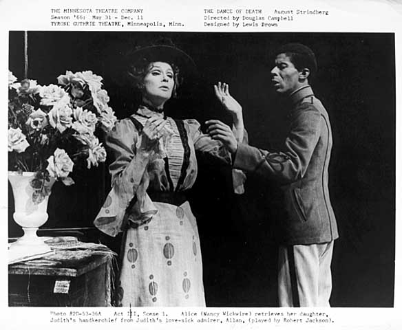 """Scene from """"The Dance of Death,"""" Guthrie Theatre, 1966"""