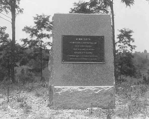 1st Minnesota Battery monument, Vicksburg National Military Park, 1907.