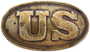 US Army waist belt plate