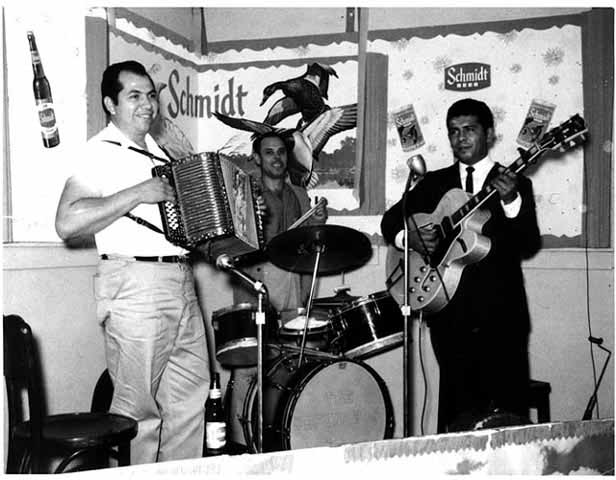 Conjunto Los Piratas, musical group from West St. Paul, ca. 1960. MNHS Photo Collection.