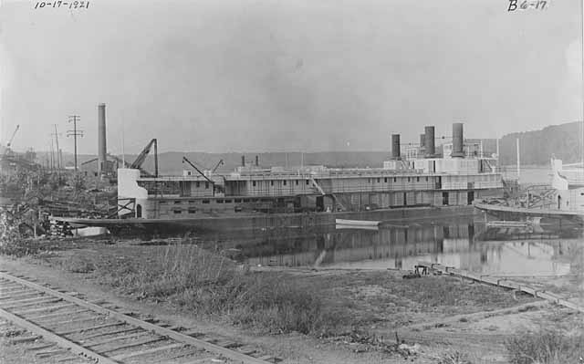 Government steamboat prior to completion at Stillwater boatworks