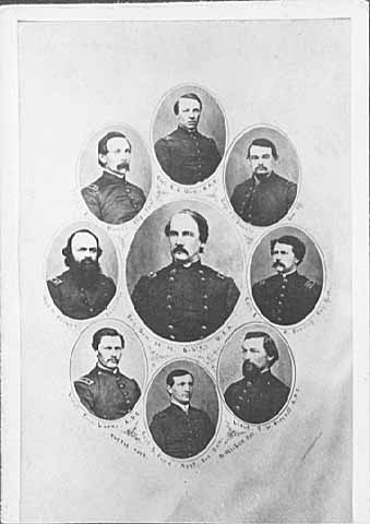 Henry H. Sibley and staff