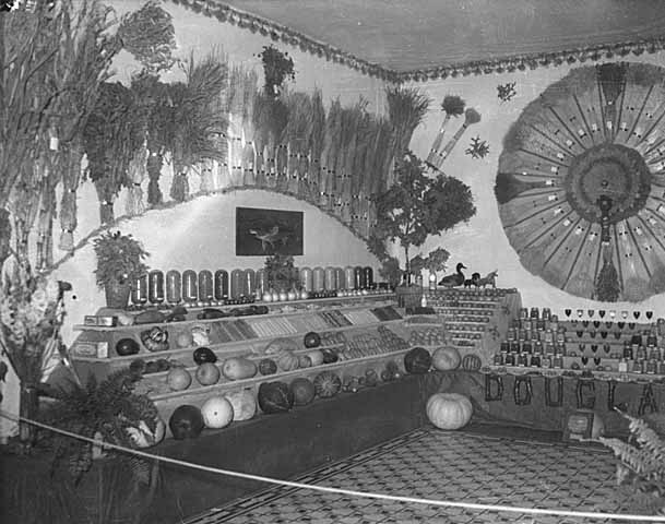 Douglas County produce display at the 1935 State Fair