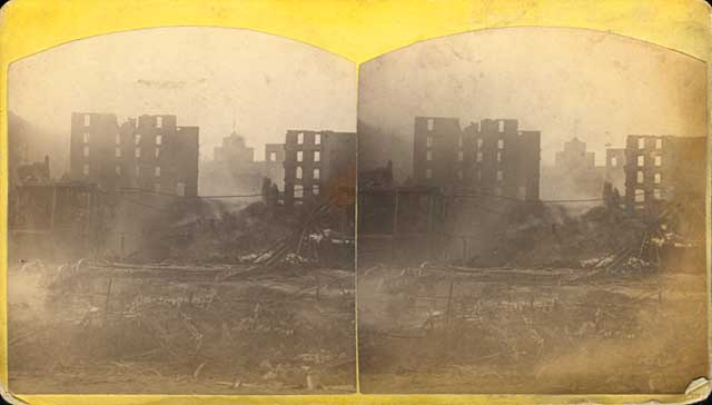 Ruins after mill explosion, Minneapolis