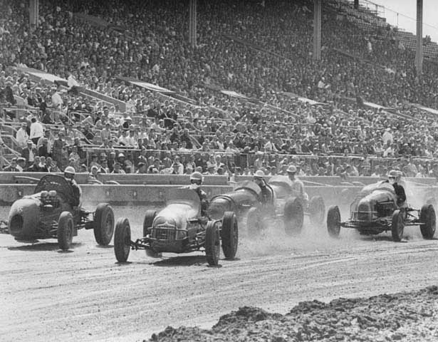 Car races at the 1958  minnesota state fair