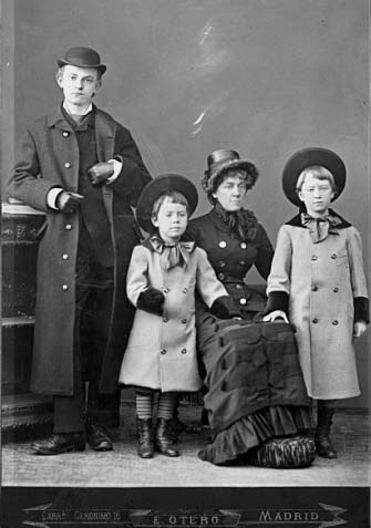 Rebecca Flandrau with her sons: left to right John W. Riddle, Blair and Charles M. Flandrau.