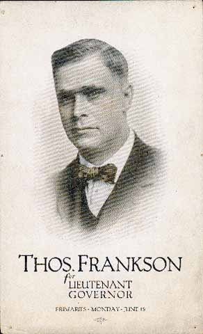 Thomas Frankson of Spring Valley and St. Paul, c. 1918