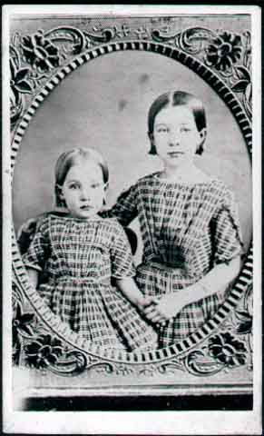 Sarah Stowell and older sister [Possibly, Sarah Stowell with her older sister].