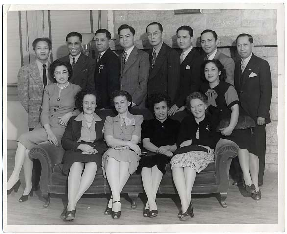 Filipino American Club function, Minneapolis, ca. 1950. MHS Photo Collection.