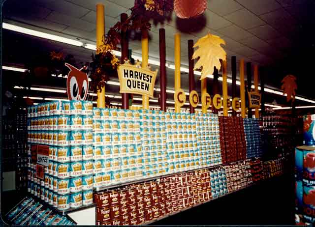 Coffee display at the Red Owl Store, Southdale Mall, Edina, 1957