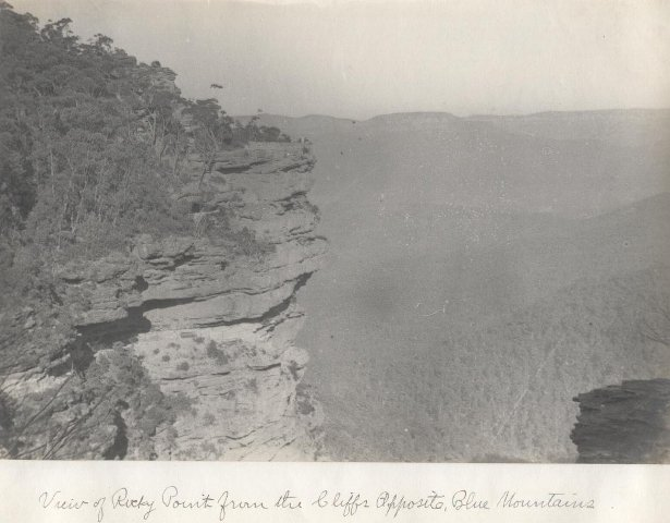 View of Rocky Point from the Cliffs Opposite, Blue Mountains, Sydney, Australia