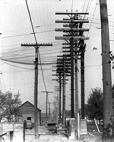 New transformer station, General Electric, 1914