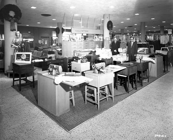 Sewing department at Donaldson, 1956