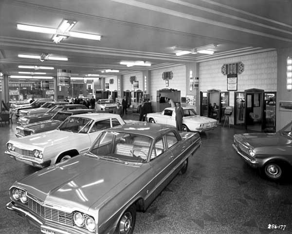 Automobile showroom, Downtown Chevrolet, Minneapolis