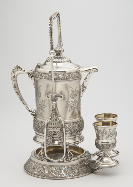 Pitcher set presented at Republican National Convention, 1892