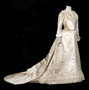 Wedding gown worn by Charlotte Hill Slade.
