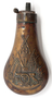 Die stamped copper powder flask