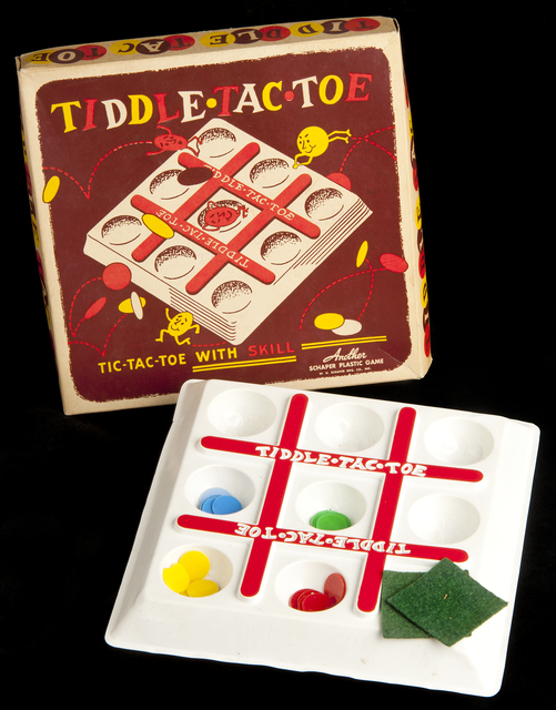 Tiddle Tac Toe board game (Schaper). Creation: Not earlier than 1950 - Not later than 1960.