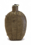 Wicker covered glass flask canteen with cork