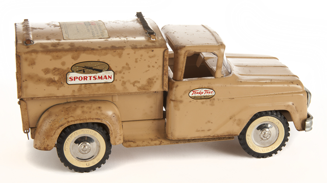 Tonka pickup truck. Creation: Not earlier than 1950 - Not later than 1959.