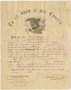 Civil War discharge document