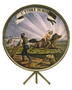 State seal glass painting
