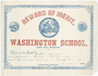 Washington School certificate