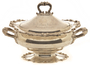 Silver soup tureen and lid presented to Governor John Lind