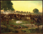 Battle of Gettysburg, oil painting by Rufus Zogbaum