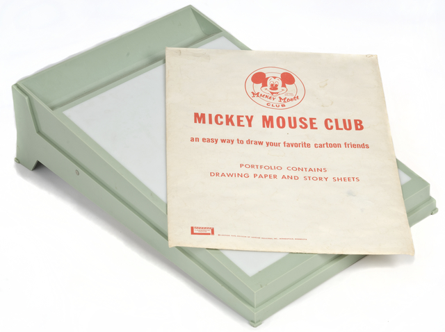 Mickey Mouse Club light table, Creation: Exactly 1965.