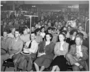 A Socialist Workers Party meeting. Roy Dunne and Grace Carlson in center.