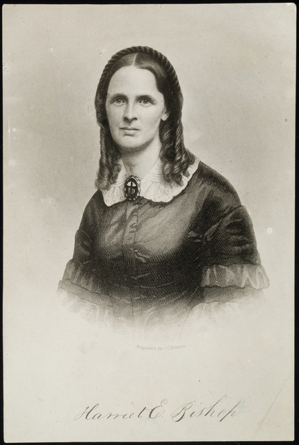Harriet E. Bishop, approximately 1860.