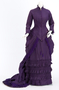 Purple Silk Taffeta Wedding Gown.