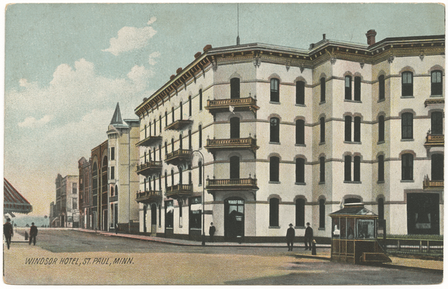 Windsor Hotel, Fifth and St. Peter, St. Paul.