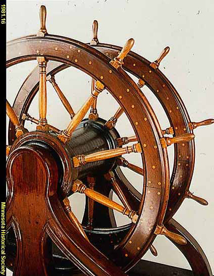 Civil War battleship steering wheel