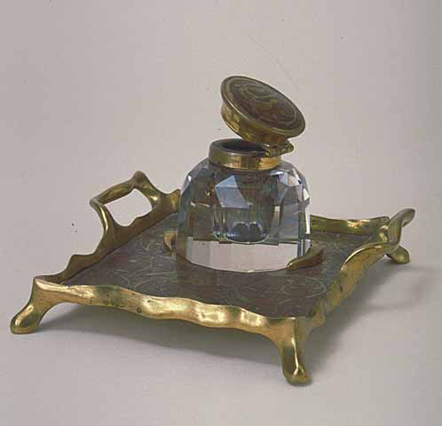 Inkwell and stand, 1870